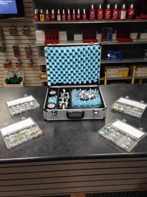 A wide assortment of adapters for your pressure testing needs.