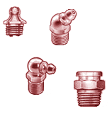 Zerk fittings to be used with aluminum manifolds